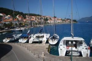 Marina in Milos (Greece)
